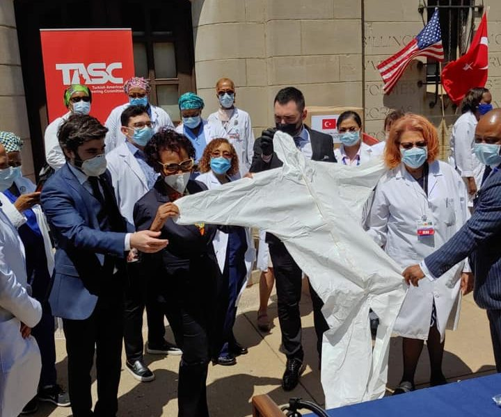 TASC donated 2,000 Hazmat suit and 5,000 surgical masks